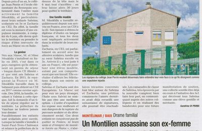 Article du journal La Tribune du 30 mai 2019 sur la menace d'expulsion de la famille de Sabrina