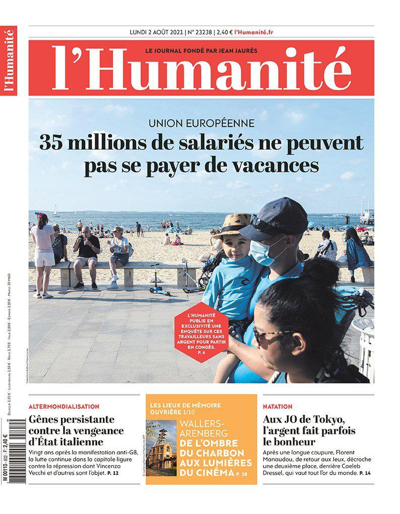 A la une de l'Humanité (02-08-21)