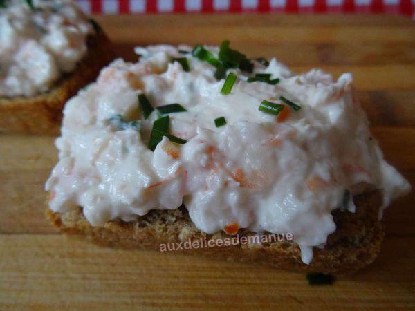tartinades aux crevettes -LIGHT-