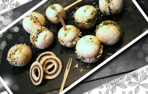 Mes Macarpignons farçis (Champignons frais façon Macarons)