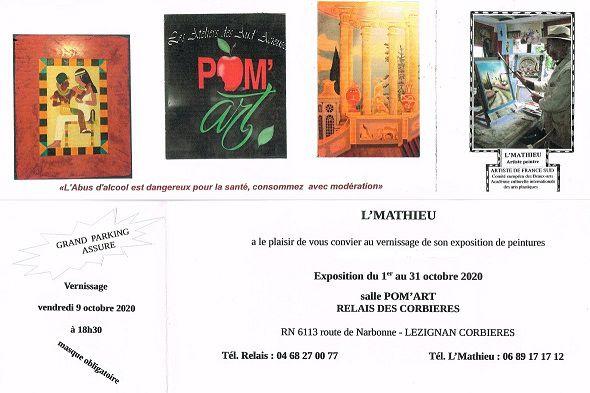 Exposition de peintures par L'Mathieu