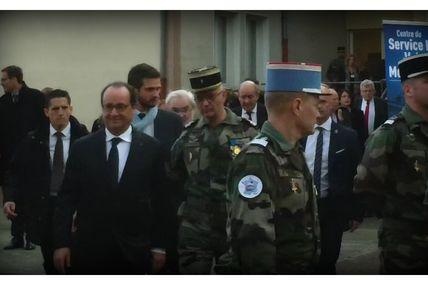 François Hollande, à Montigny-lès-Metz pour inaugurer le Service Militaire Volontaire