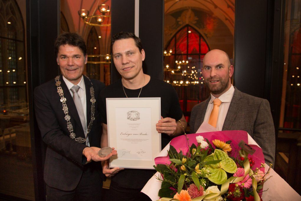 Tiësto has been named an honorary citizen of Breda !!