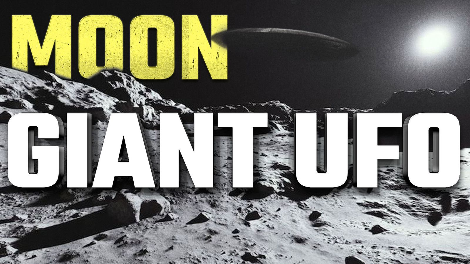 UFO Sighting News : Giant UFO Over Moon spotted by Astronomer in 2007 👽