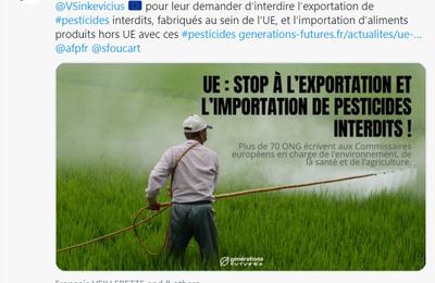 Exportation de pesticides «interdits»: une manœuvre d'un fonctionnaire de la Commission Européenne ?