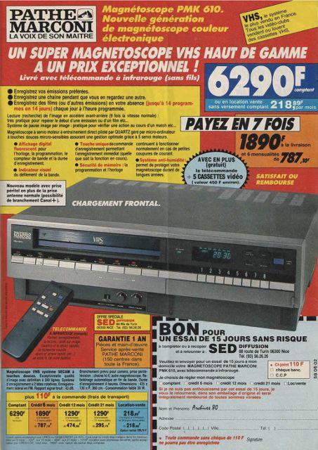 Publicité de magazines années 80