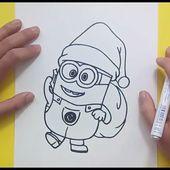 Como dibujar un minion paso a paso 4 - Minions   How to draw a minion 4 - Minions
