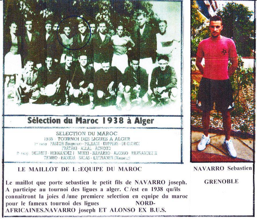 Collection Jean Navarro avec BUS, Réal Club Marocain, Idéal Club Marocain et Marcel Cerdan footballeur