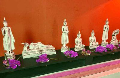 Bouddha, couleurs et jours de la semaine