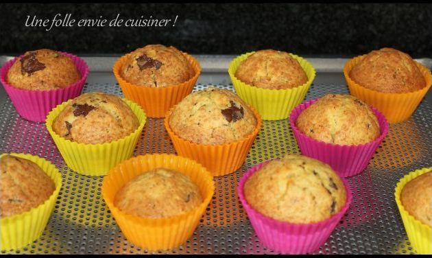 Muffins à l'orange et au chocolat