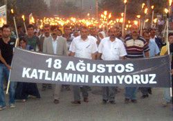 In August 2009, the population of Sırnak commemorates the events of 1992 (photo yuksekovahaber.com)