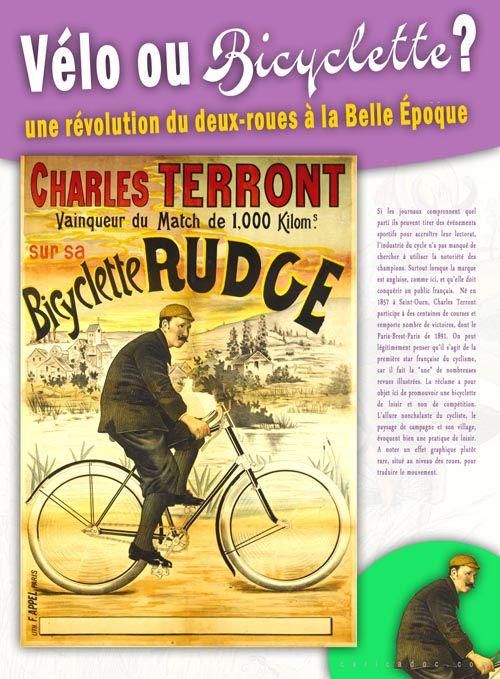Vélo ou bicyclette ? Une révolution du deux-roue à la Belle Époque : exposition itinérante à louer