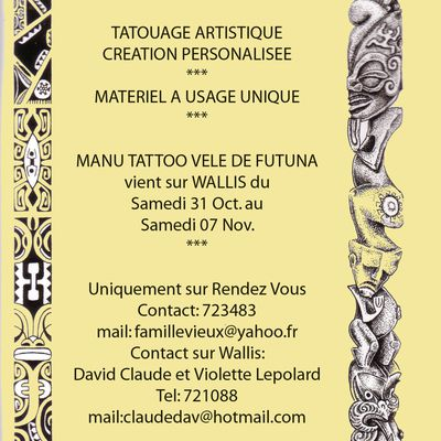 Tatouage à Wallis - Manu Tattoo Vele