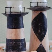 Burton Avenue: (Cereal Box) Lighthouse Candle Holder