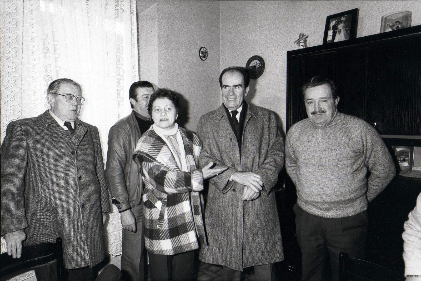 Visite de Georges MARCHAIS en 1985 à Algrange