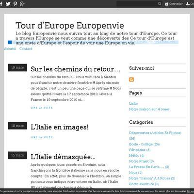 Tour d'Europe Europenvie