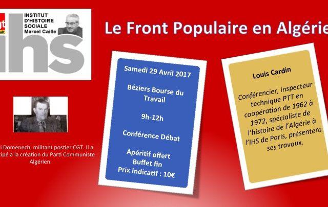 Conférence Débat Le front populaire en Algérie