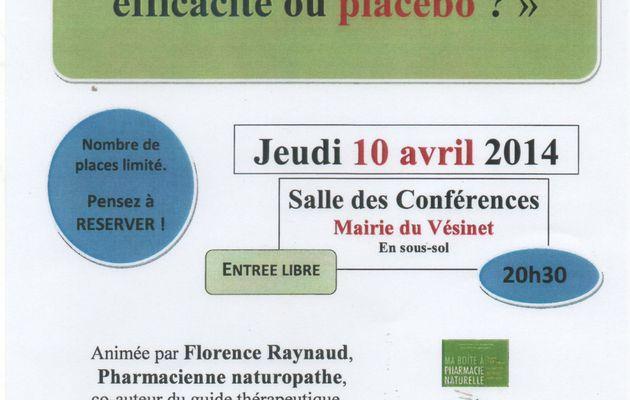 Jeudi 10 avril 2014 : conférence sur les médecines naturelles
