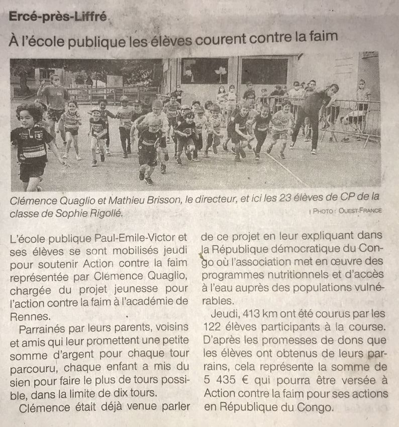 Article Ouest-France 14/06/2021