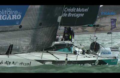 Ce matin, les marins ont franchi la ligne d'arrivée à Fécamp France