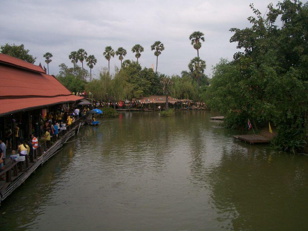 Thaïlande : Marché flottant d'Ayutthaya