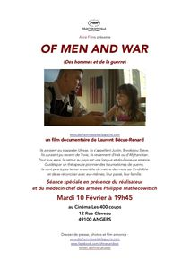 Of men and war : projection 400 coups  ANGERS 10 Février