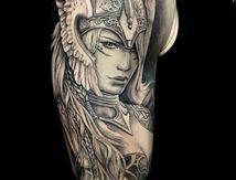 Valkyrie tattoo by Roxane Duquenne