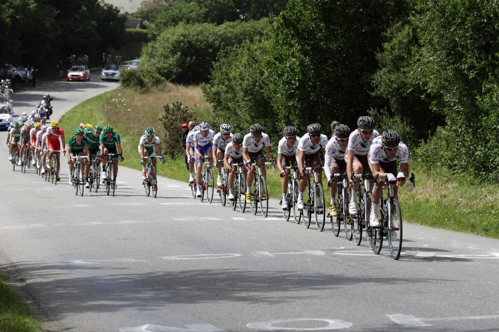 Championnat de France qui s'est déroulé à LANNILIS (29) en juin 2013 -  Le podium: Arthur VICHOT (FDJ) vaniqueur, S CHAVANEL et T GALLOPIN