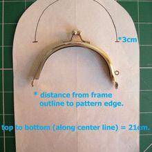 Curved purse frames