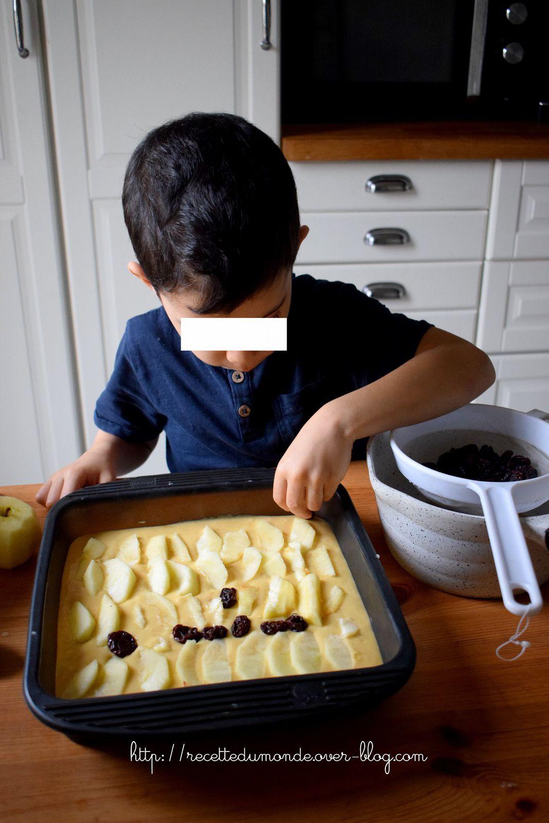 Solsu Elmalı üzümlü Kek - Gâteaux pommes raisins glacé