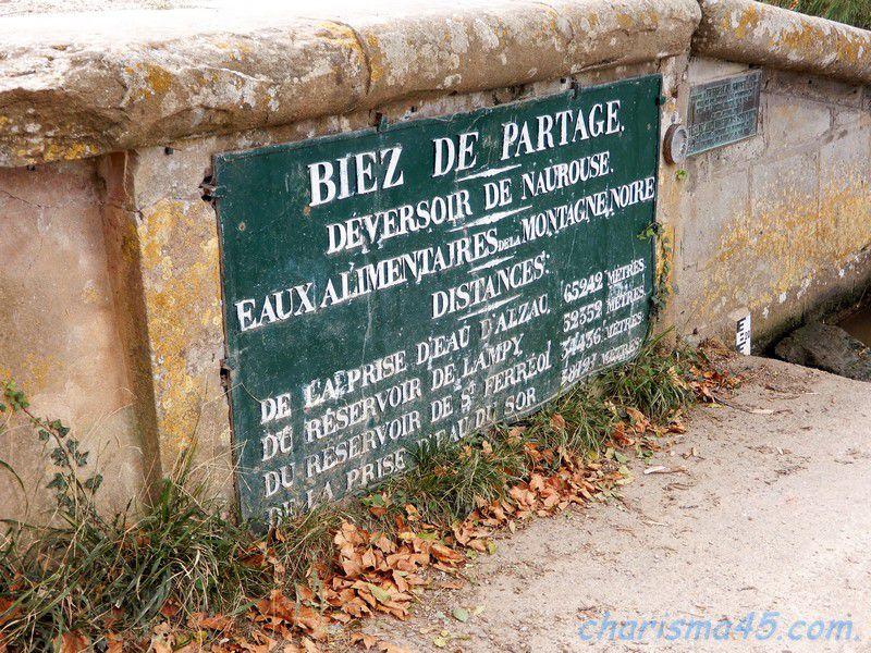 Seuil de Naurouze, canal du midi en camping-car