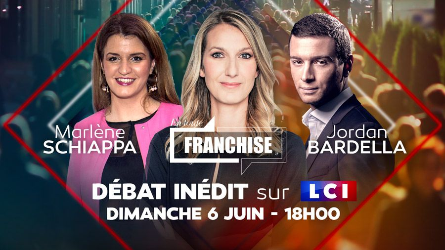 Débat inédit ce dimanche à 18h00 entre Marlène Schiappa et Jordan Bardella sur LCI