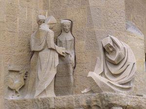 Détails de la façade de la Passion ( avril 2015, images personnelles)