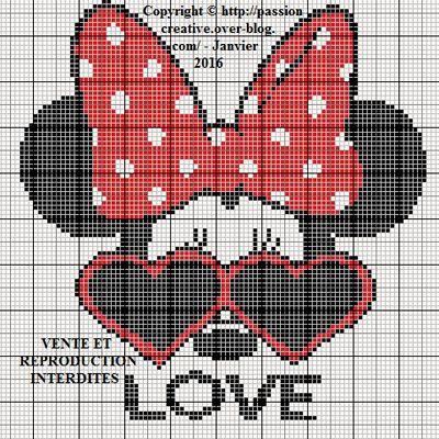 Grille gratuite point de croix : Minnie Love