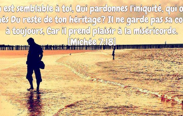 #Verset de la semaine : Quel Dieu est semblable à toi...