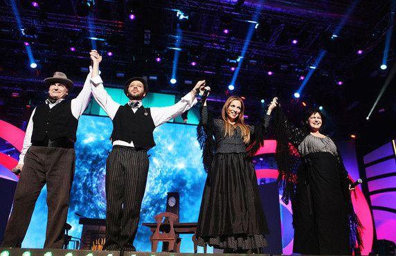 Reportage photo sur les concerts des Enfoirés 2011. photos de TF1