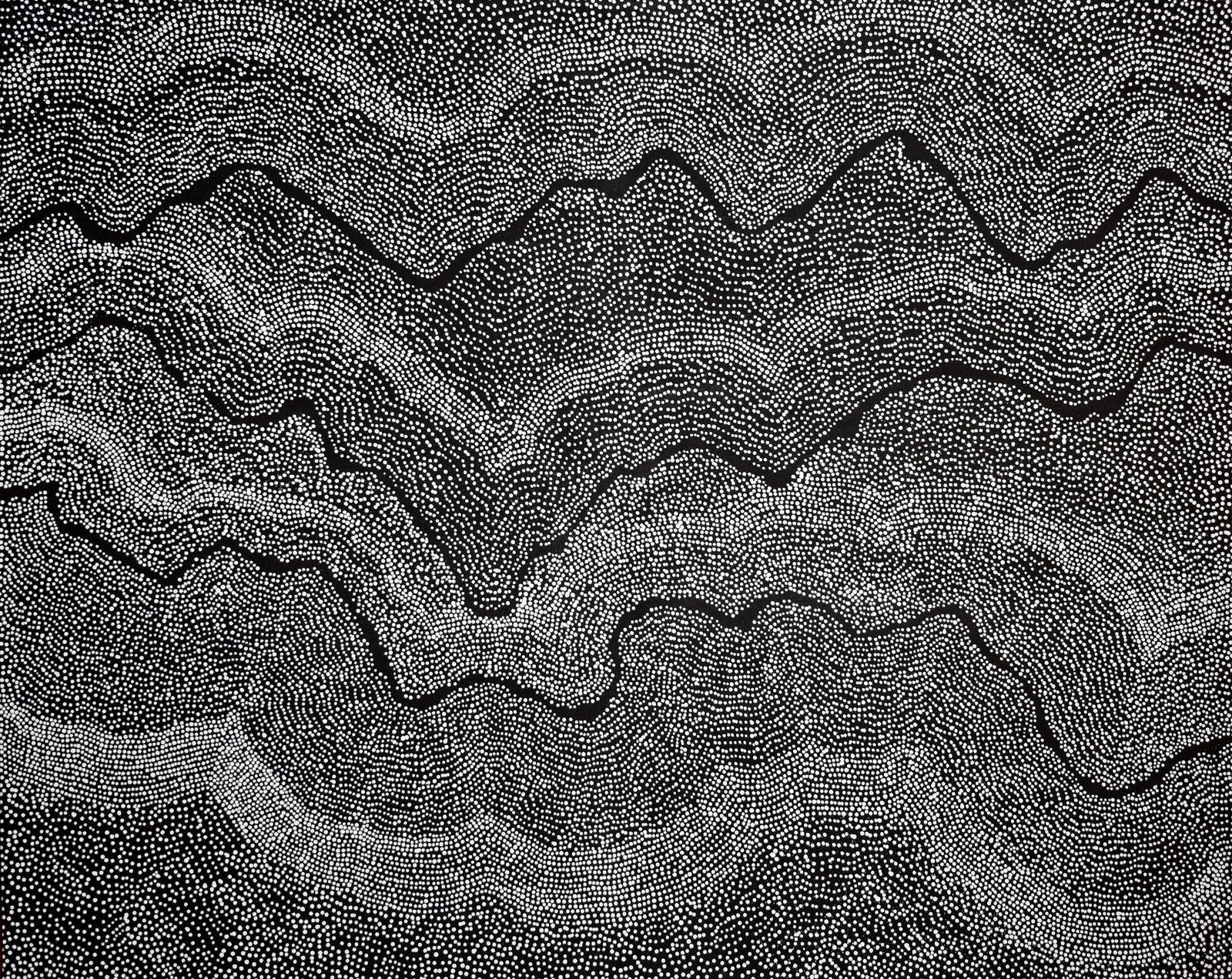 "© Arts d'Australie • Stéphane Jacob - ""Pirlinyanu Dreaming"", Julie Robertson NANGALA"