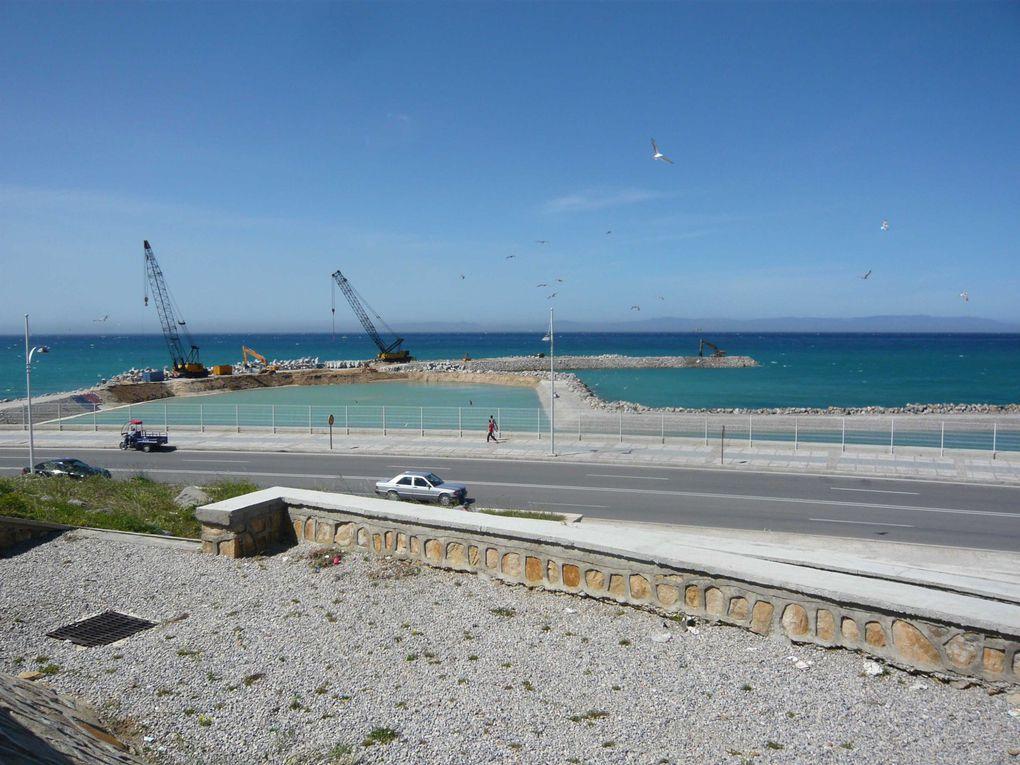 projet et photos du chantier du port de Tanger