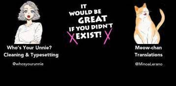 IT WOULD BE GREAT IF YOU DIDN'T EXIST!