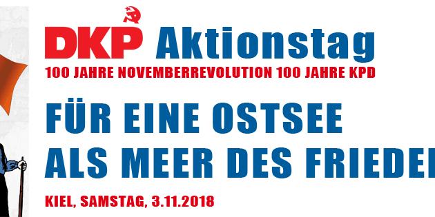 Journée d'action du Parti communiste allemand (DKP) pour les 100 ans de la Révolution de Novembre et du KPD