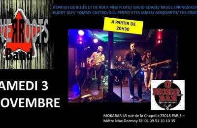 Concert de Silver Roots au O'MoKa Bar le 3 novembre