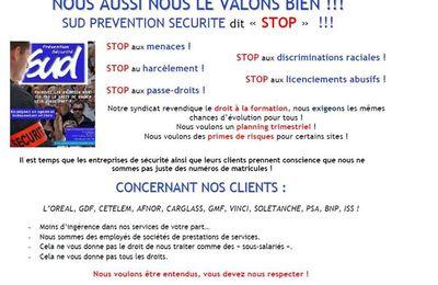 Mobilisation des salarié-e-s de la prévention et de la sécurité à Saint-Ouen lundi 27 janvier