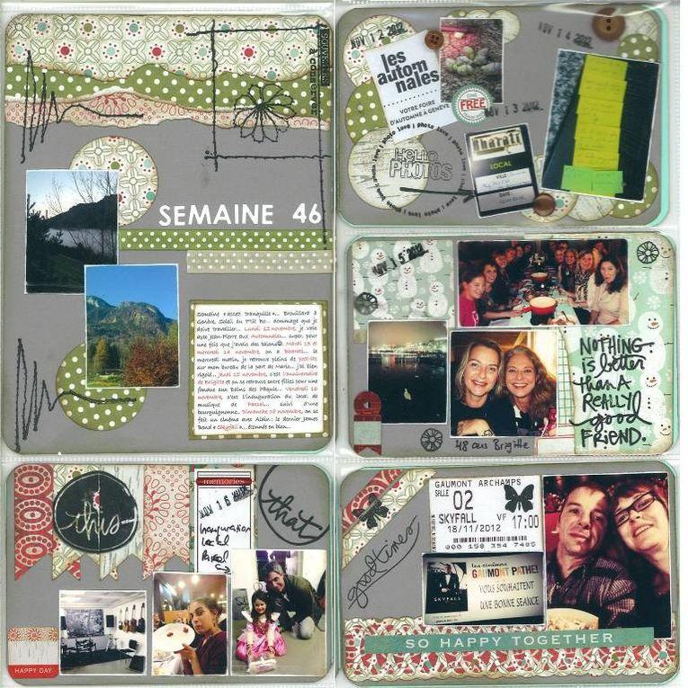 Semaine après semaine, mon année 2012 racontée en images et en scrap....
