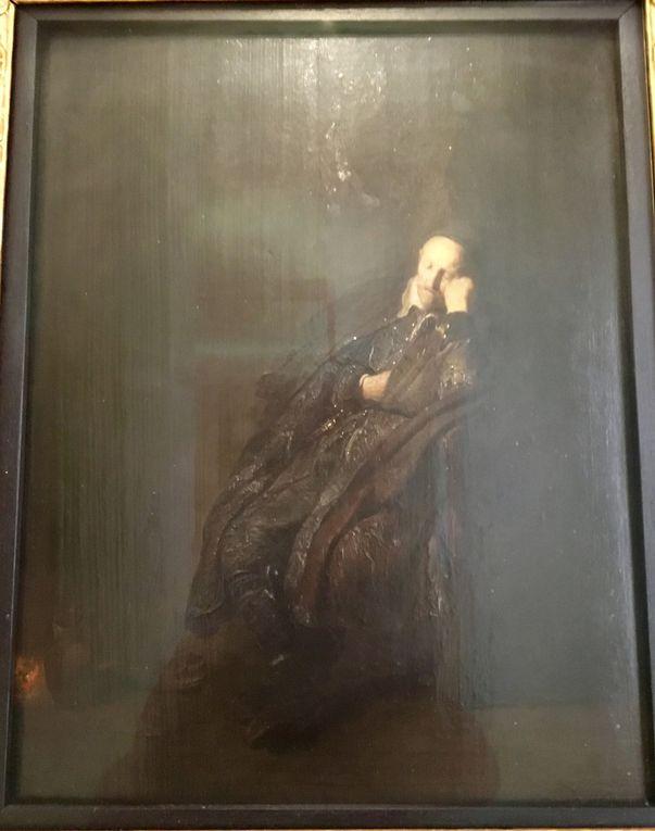 Rembrandt van Rijn, Ritratto di vecchio dormiente, Olio su tavela, 52 x 41 cm