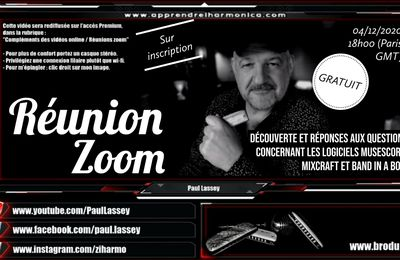 Rediffusion du 04/12/2020 - Réunion Zoom 03 - Musescore, Mixcraft et Band in a box