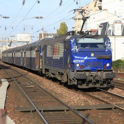 Le matériel roulant de SNCF Transilien : les VB 2N et locomotives