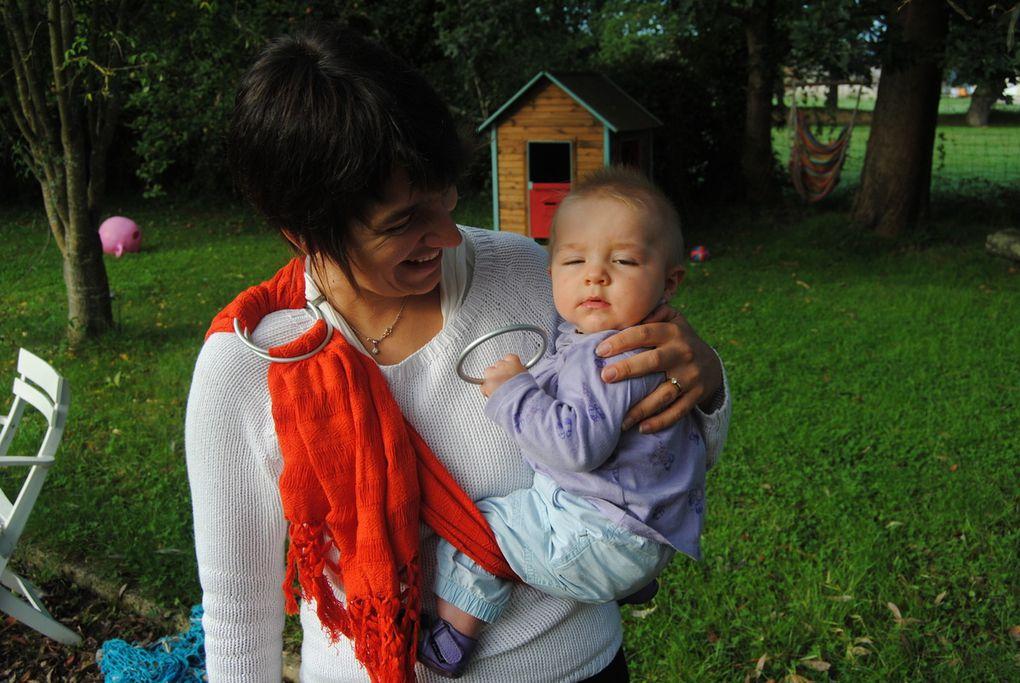 Porter bébé en rebozo à la manière d'un sling et avec anneaux.