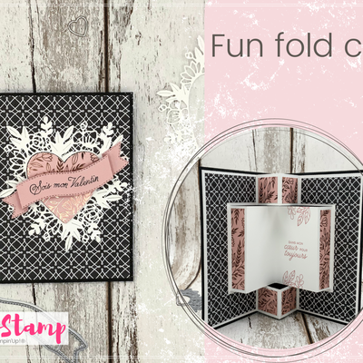 Live Facebook : Fun Fold card de Saint Valentin