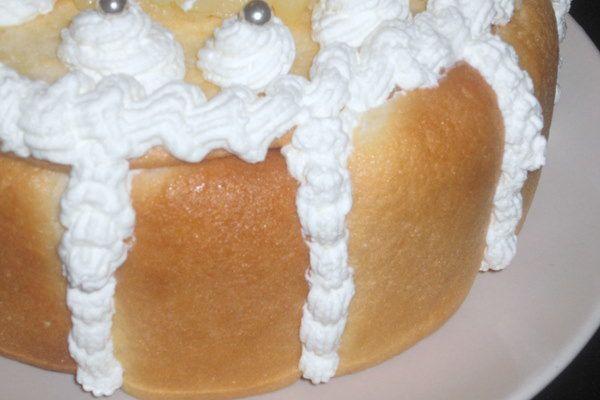Charlotte aux poires et biscuits cuillers faits maison