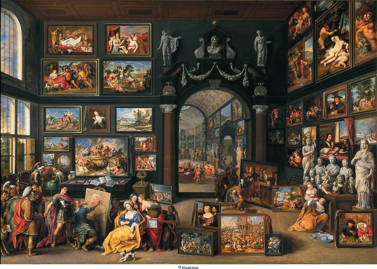 """Les tableaux de """"chambres d'art"""" ( Willem van Haecht, """"La Galerie de Cornelis van der Geest à Anvers"""", 1628,)"""
